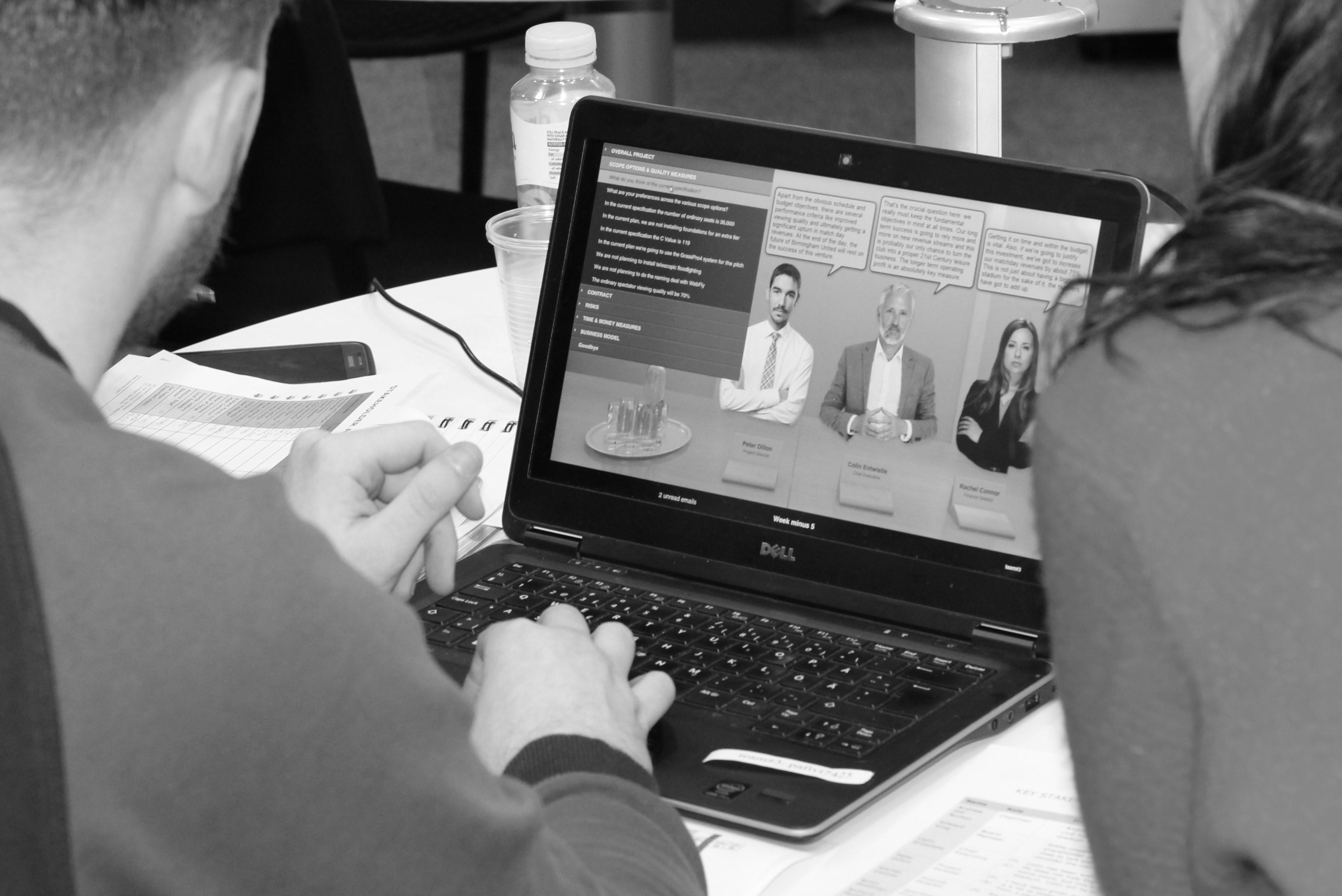 man on laptop image