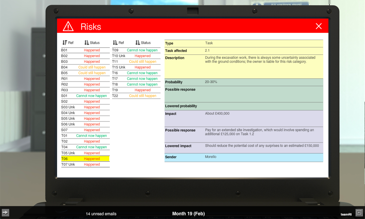 image of risk info on laptop